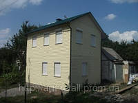 Проект сборного дома, строительство каркасного дачного дома