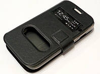 Чехол книжка с окошками для Samsung Galaxy S3 mini i8190 black