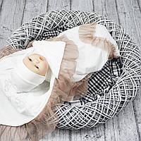 """Нарядная крыжма - детский плед """"Благодать"""" для новорожденных"""