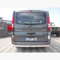 Защита авто заднего бампера Opel Vivaro
