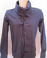 Молодежная синяя рубашка с хомутом. Италия