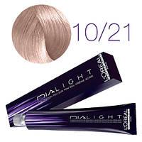 L'Oreal Professionnel's DIAlight 10.21  краска для волос Молочный коктейль перламутровый сорбет 50 ml