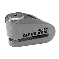 Замок на диск Oxford Alpha XA14 Alarm Stainless disc lock(14mm pin) - Brushed steel (Хром)
