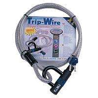 Замок и трос Oxford Silver Trip Wire XL 15mm x 1.6m (Silver)