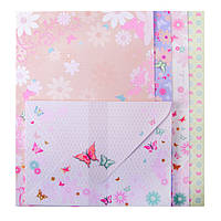 Заготовка для открыток с цветными конвертами Purple Butterfly 10.5*14.8см