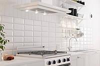 10х20 Керамическая плитка Metrotiles белый кухня