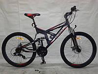Горный подростковый велосипед 24 дюйма  Azimut Shock  315-FR черно-серый***