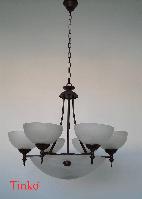 Люстра подвесная классическая на девять ламп