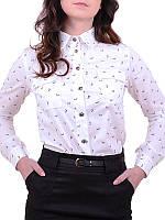 Блуза школьная для подростка на кнопках