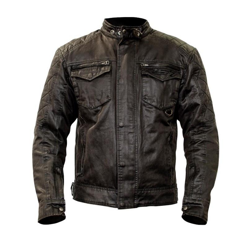 Мотокуртка шкіряна RST IOM TT CLASSIC WAX SHORT 1247 JKT, Black (Чорний)