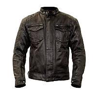 Мотокуртка шкіряна RST IOM TT CLASSIC WAX SHORT 1247 JKT, Black (Чорний), фото 1