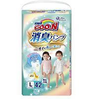 Трусики-подгузники AROMAGIC DEO PANTS для детей весом 9-14 кг (размер L, унисекс, 42 шт) ТМ Goo.N 853111