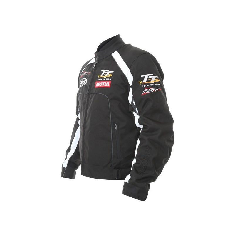 Мотокуртка текстильная RST IOM TT TEAM TT 1669, BLK/WHI (60)
