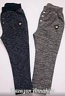 Штаны спортивные на мальчика, синие, мраморные BREEZE, 104-128 см.