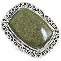 Обсидиан, серебро 925, кольцо, 598КЦО