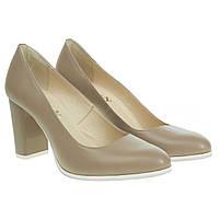 Туфли женские Скорпион (кожаные, на устойчивом каблуке, удобные, классические, качественные)