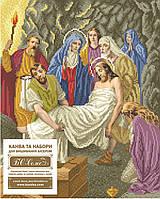 """Схема для вышивки бисером икона """"Тіло Ісуса кладуть до гробу"""""""