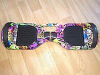 """Гироскутер Smart Balance Wheel Simple 6,5"""" Hip Hop Kids с Ручкой +Спиннер в Подарок! (Гарантия 12 Месяцев)"""