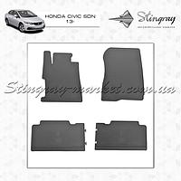 Комплект резиновых ковриков Stingray для автомобиля  Honda Civic sedan 2006-     4шт.