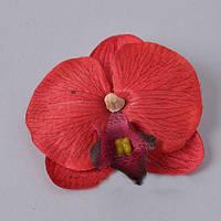 Головка орхидеи красная 10см Цветы искусственные