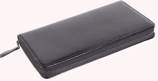 Многофункциональный мужской кожаный клатч BLACK001-1 черный