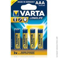 Батарейка Varta Long Life ААА R3 Алкалиновые