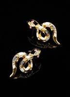 """Серьги """"Змейка"""" от Студии  www.LadyStyle.Biz"""