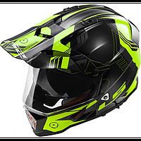 Эндуро шлем LS2 PIONEER MX436 TRIGGER Black Hi-Viz Yellow (S), фото 1