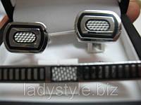 """Классический набор """"Маэстро"""" (запонки и зажим для галстука) от студии LadyStyle.Biz"""