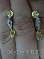 Шикарные серебряные серьги-гвоздики с волосатиком от Студии  www.LadyStyle.Biz