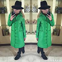 Пальто женское стеганое весеннее  в расцветках 15066
