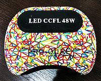 Разноцветная УФ ЛАМПА ГИБРИД (CCFL+LED) для наращивания ногтей и покрытия гель-лака
