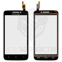 Тачскрин (сенсор) для мобильного телефона Lenovo S650, черный