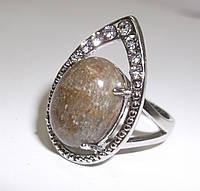 Потрясающее кольцо с натуральным кошачьим глазом (углексидом)размер 19.1 от студии LadyStyle.Biz, фото 1