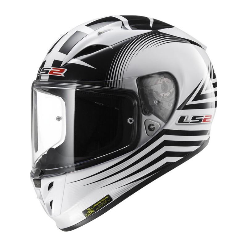 Мотошлем LS2 FF323 ARROW R TRAX White Black (S)