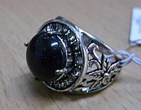 """Кольцо с синим авантюрином (ночь Каира) """"Даринка"""", размер 19,18 от Студии LadyStyle.Biz , фото 1"""