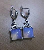 """Серьги с лунным камнем опалитом  """"Квадро""""от Студии LadyStyle.Biz , фото 1"""