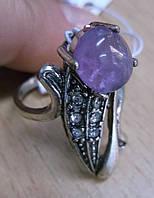 """Кольцо с аметистом """"Рыбка"""", размер 18 от Студии LadyStyle.Biz"""