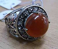 """Кольцо с сердоликом """"Даринка"""", размер 18 от Студии LadyStyle.Biz"""
