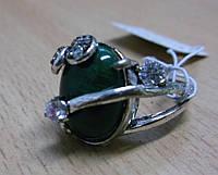 """Кольцо с малахитом """"Лоск"""", размер 18 от Студии LadyStyle.Biz, фото 1"""