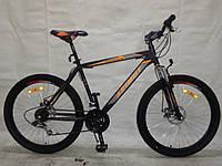 Горный спортивный велосипед 24 дюймов Azimut Omega 336-FR/D (оборудование SHIMANO)черно-красный ***