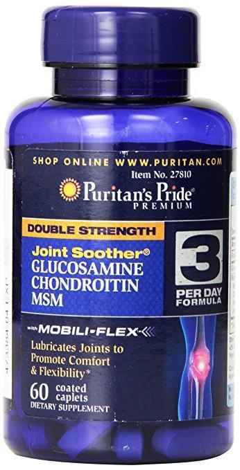 Double Strength Glucosamine, Chondroitin MSM (60 таблеток)