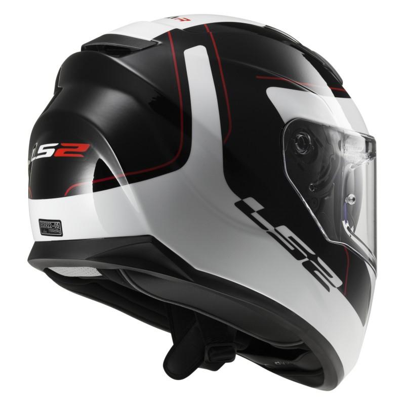 Шлем LS2 FF320 STREAM LUNAR Black White (XL)