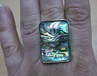 Прямоугольное кольцо с галиотисом от студии LadyStyle.Biz, фото 1
