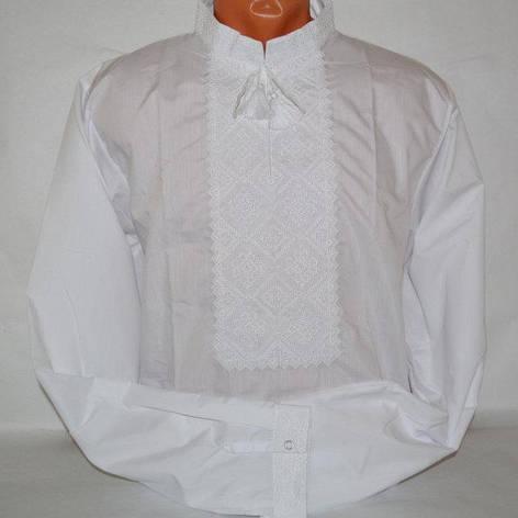 Белая рубашка с белой вышивкой, фото 2