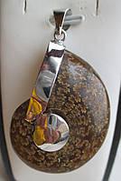 Яркий кулон с древним аммонитом от студии LadyStyle.Biz