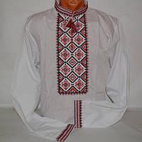 Вышиванка мужская с красной вышивкой