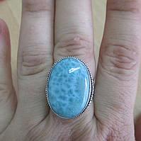 """Изящный перстень с ларимаром """"Морская пена"""", размер 17,2 от студии  LadyStyle.Biz, фото 1"""