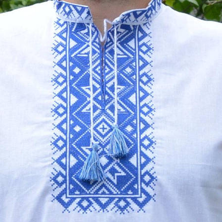 Вышитая мужская рубашка с коротким рукавом, фото 2