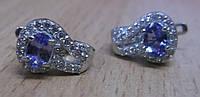 """Серебряные серьги с танзанитами """"Лавика"""" от студии  LadyStyle.Biz, фото 1"""